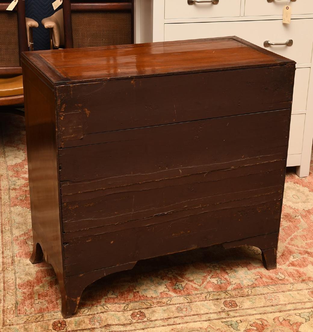 George III mahogany inlaid chest of drawers - 7