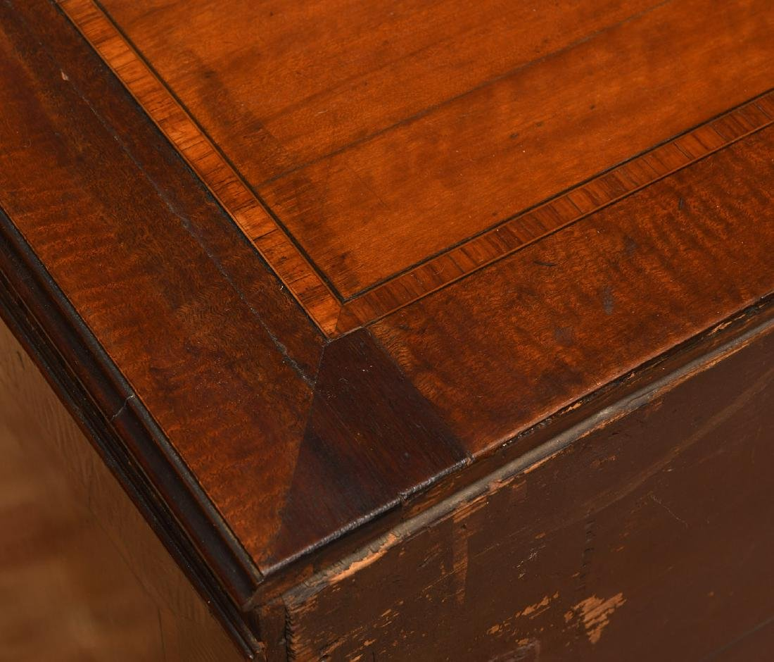 George III mahogany inlaid chest of drawers - 8