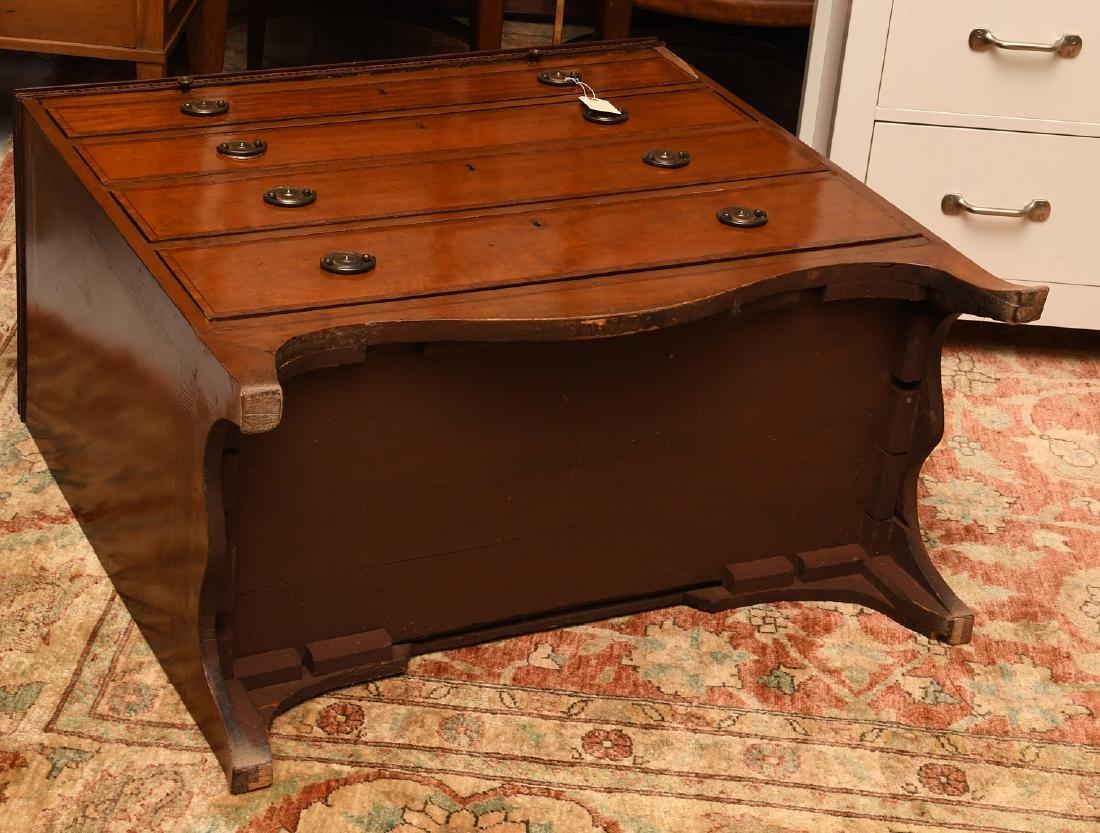 George III mahogany inlaid chest of drawers - 9