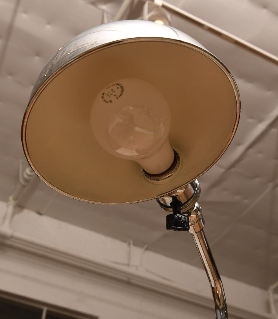 (2) Modern chrome plated floor lamps - 3