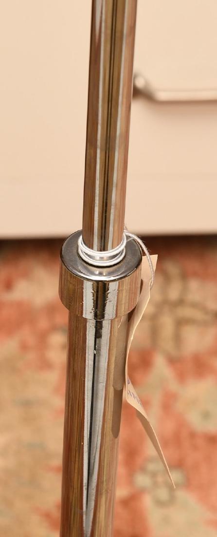 (2) Modern chrome plated floor lamps - 4