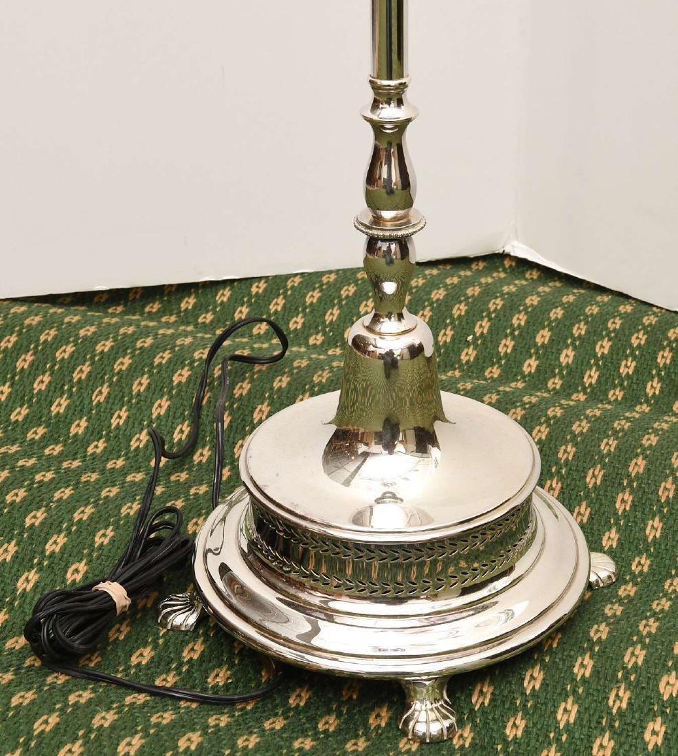 (2) Modern chrome plated floor lamps - 9