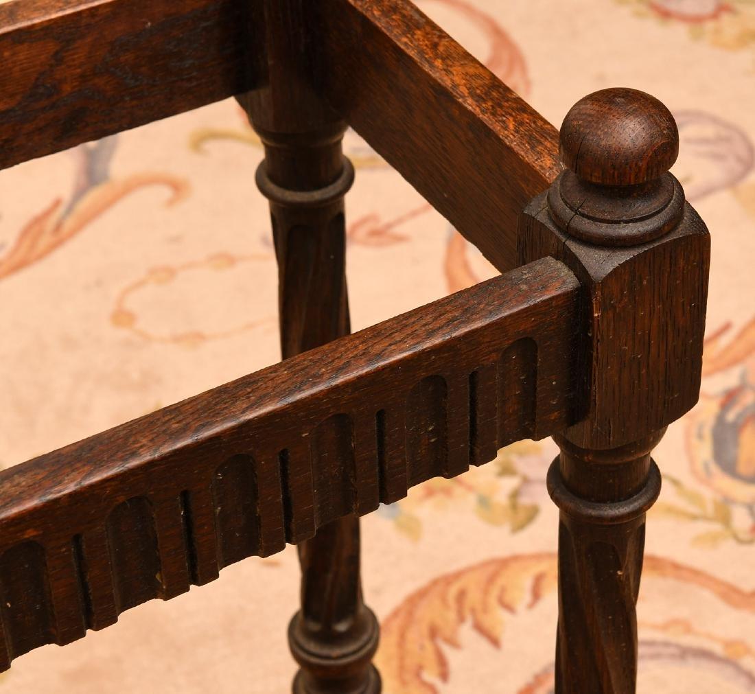 English oak umbrella or cane stand - 2