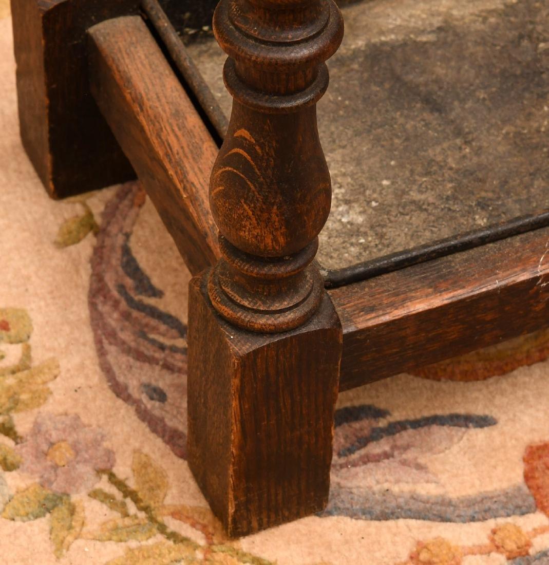 English oak umbrella or cane stand - 3