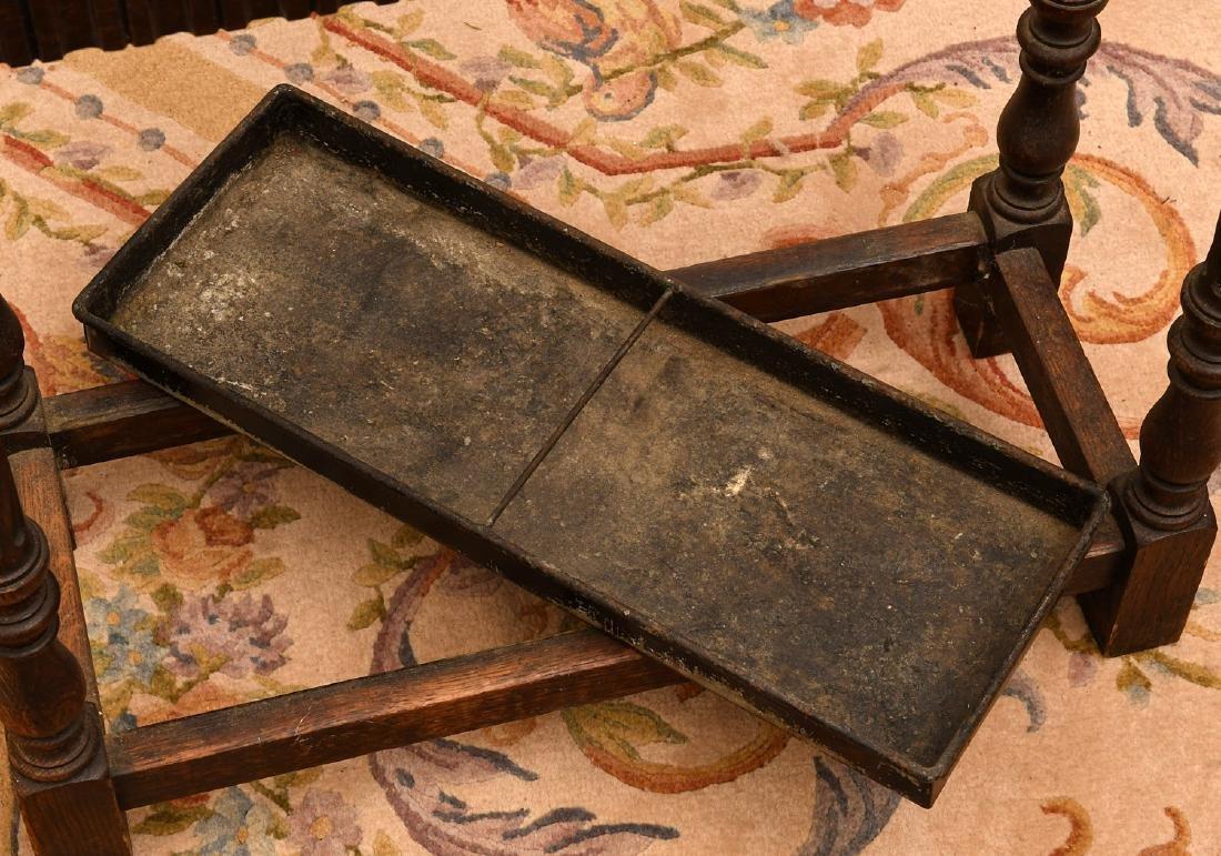 English oak umbrella or cane stand - 4