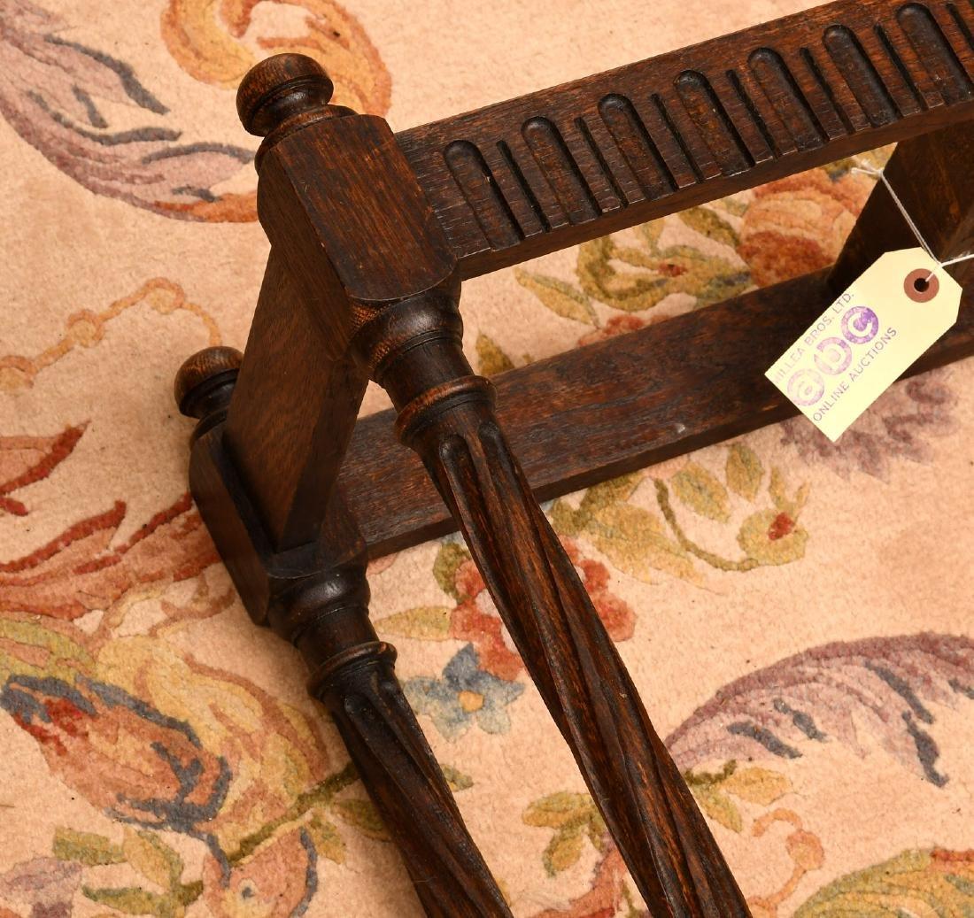 English oak umbrella or cane stand - 5
