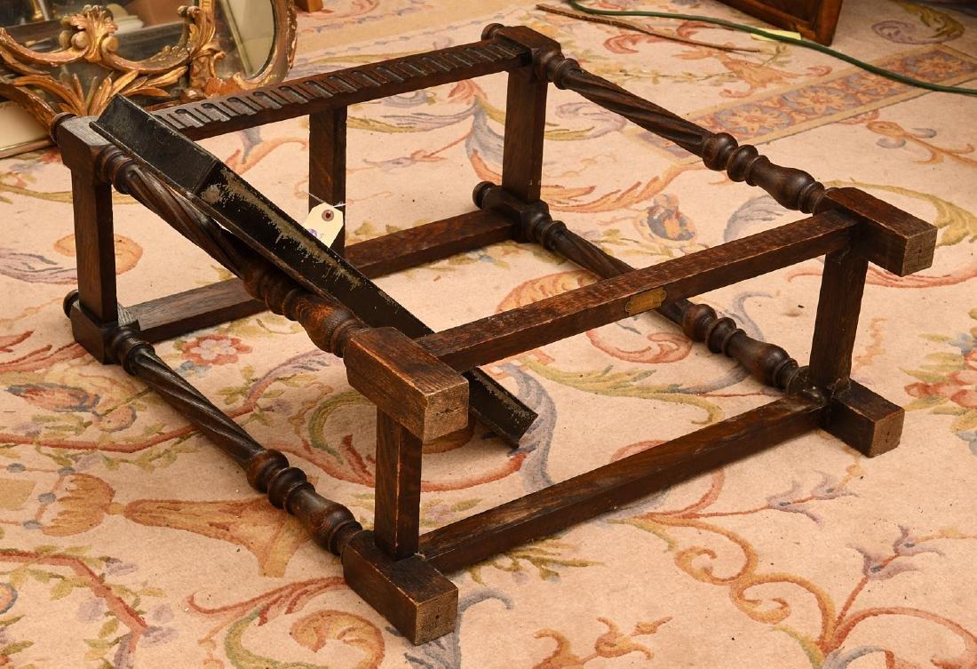 English oak umbrella or cane stand - 6
