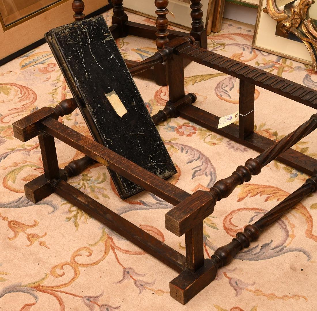 English oak umbrella or cane stand - 7