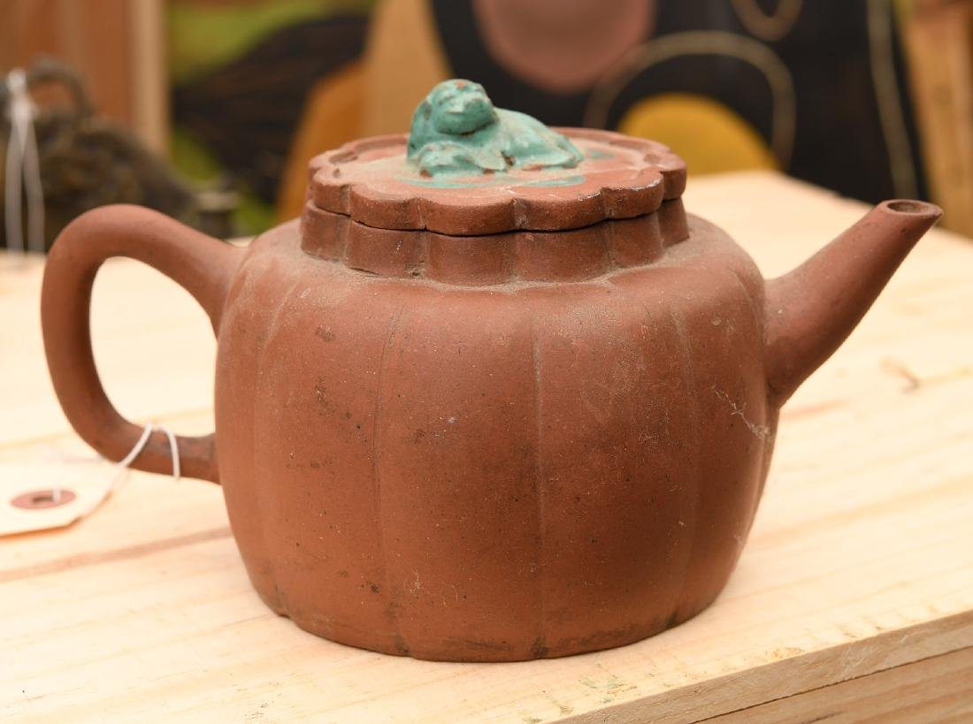 Signed Chinese Yixing terracotta teapot