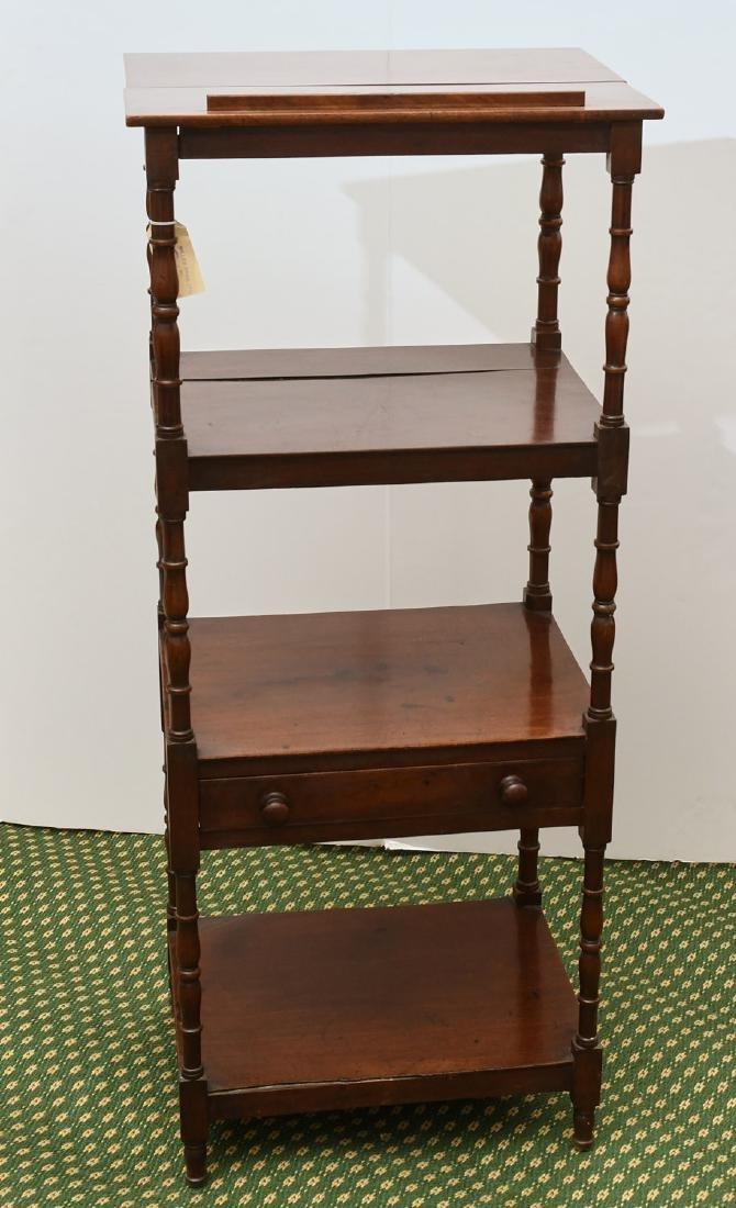 George III style lectern etagere