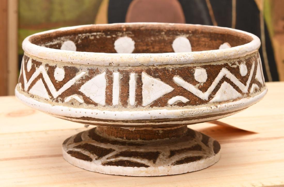 Ugo Zaccagnini glazed ceramic footed bowl