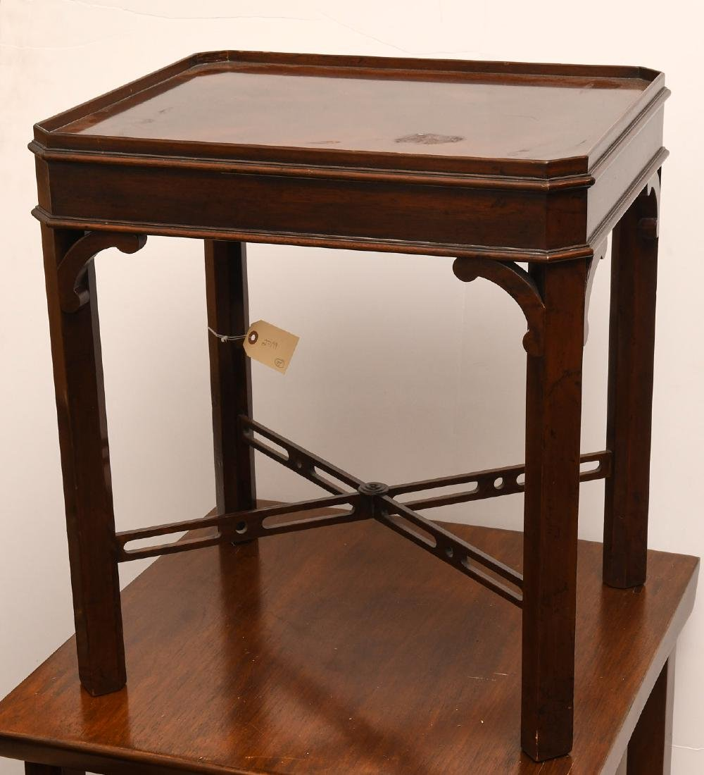 English Chippendale style tea table