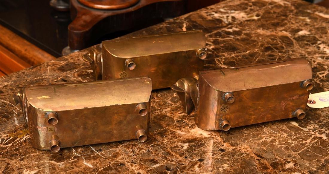 (3) Modernist brass dachshund boxes - 10