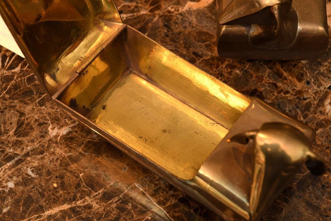 (3) Modernist brass dachshund boxes - 7