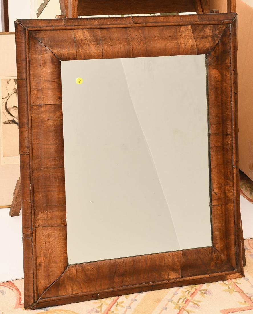George I style walnut veneered ogee mirror