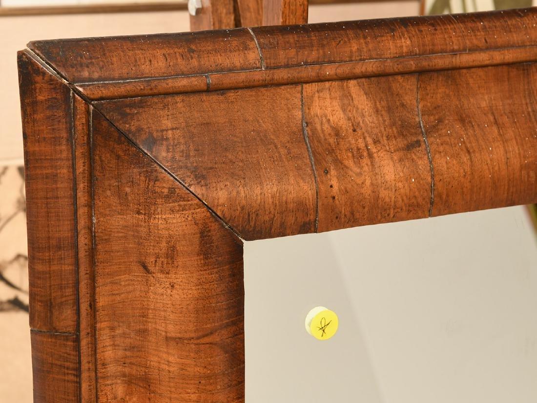George I style walnut veneered ogee mirror - 2