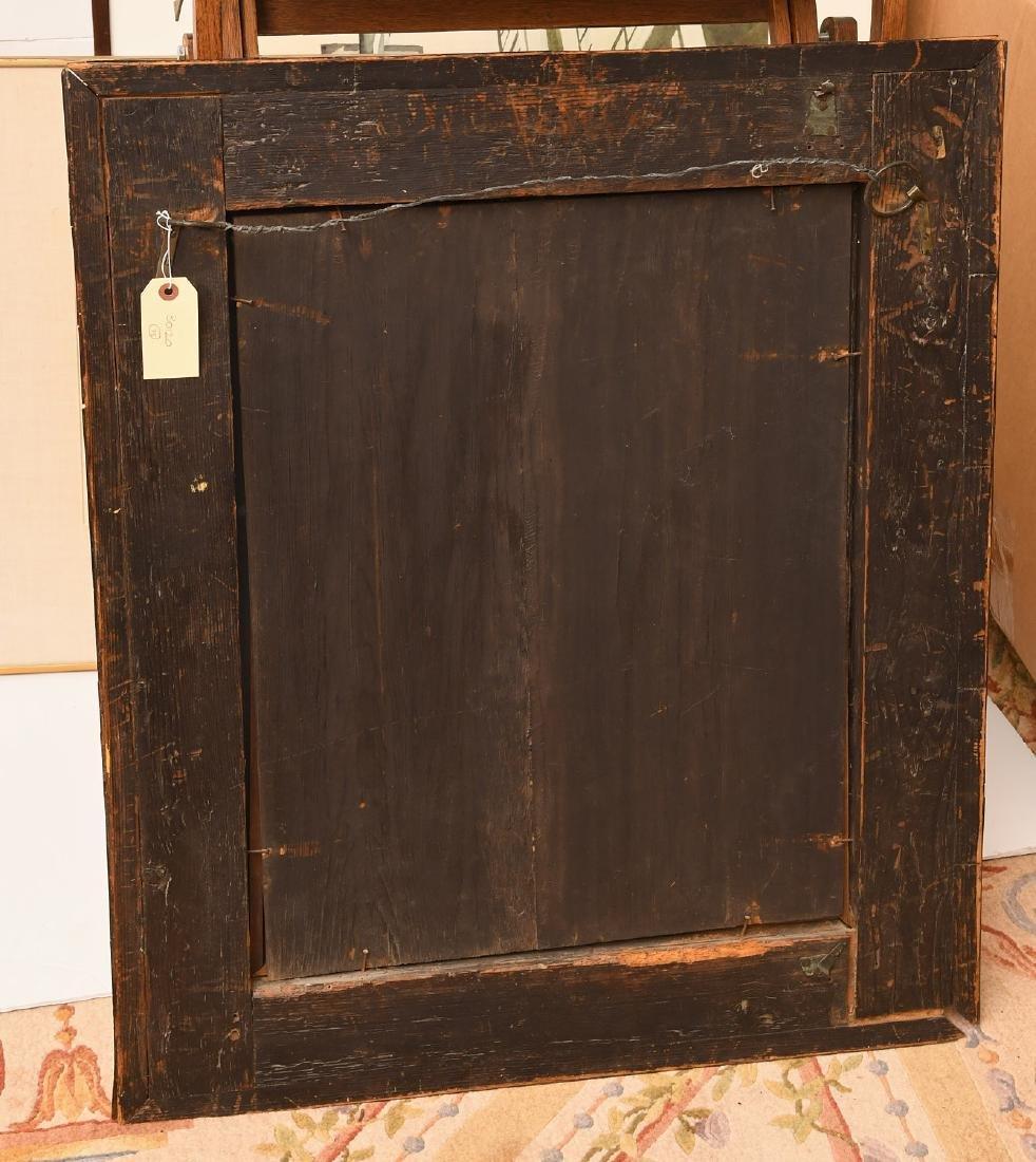 George I style walnut veneered ogee mirror - 4