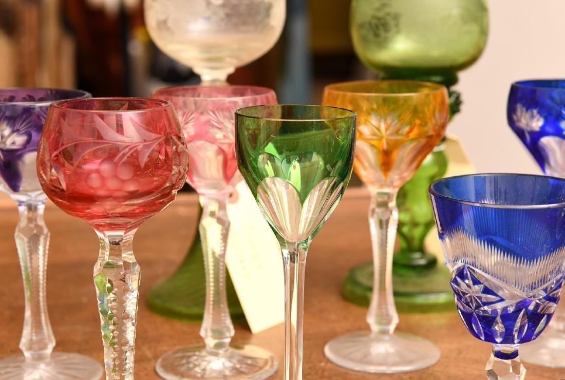 Collection (20) colored glass stemware - 2