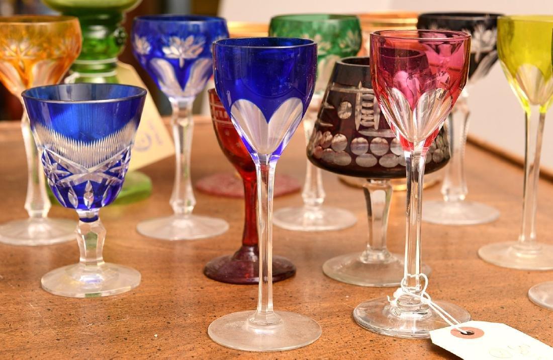 Collection (20) colored glass stemware - 4