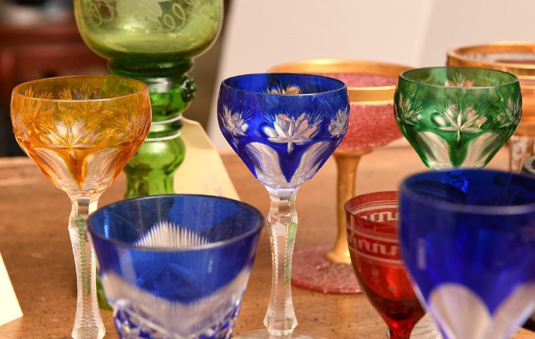 Collection (20) colored glass stemware - 5