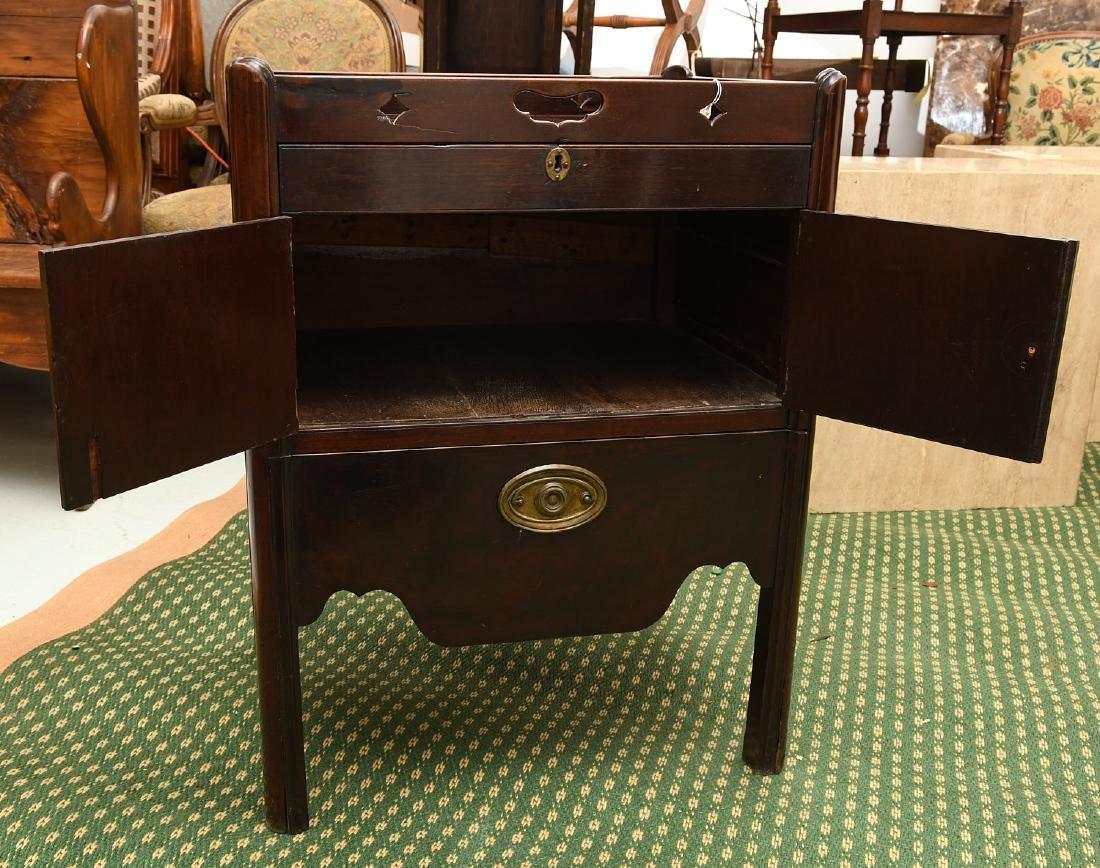 George III mahogany bedside commode - 5
