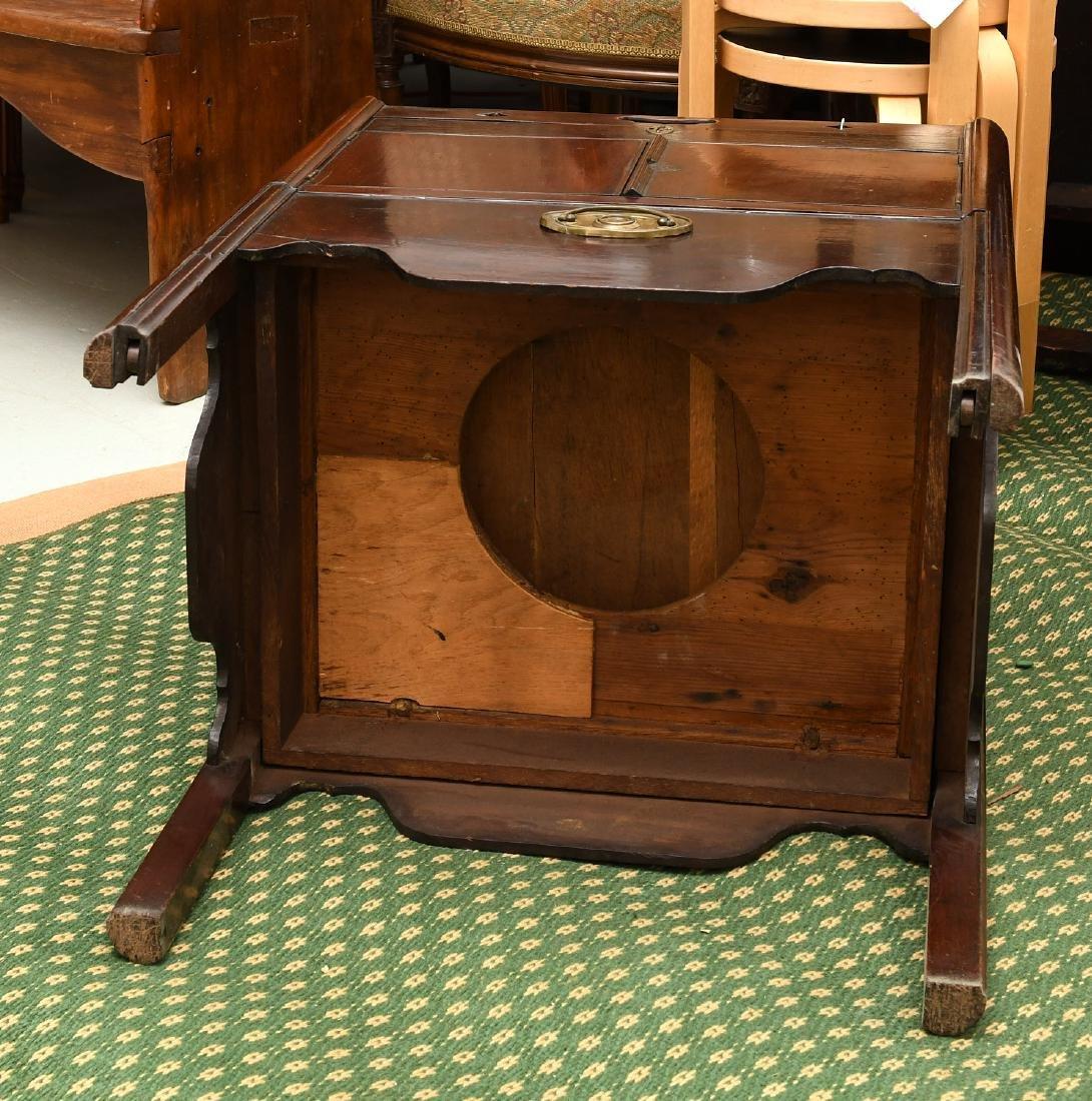 George III mahogany bedside commode - 9