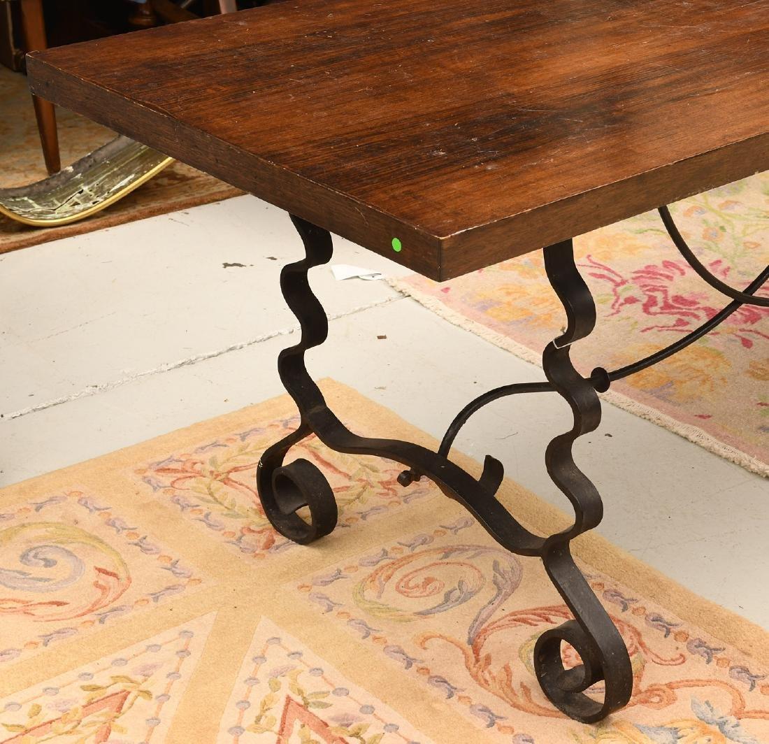 Spanish Baroque style trestle table - 2