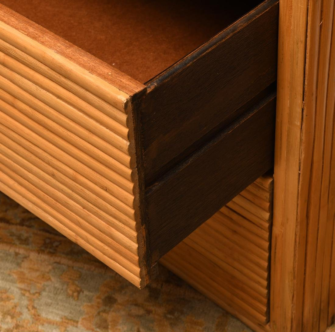 Pair Crespi style rattan chests of drawers - 3