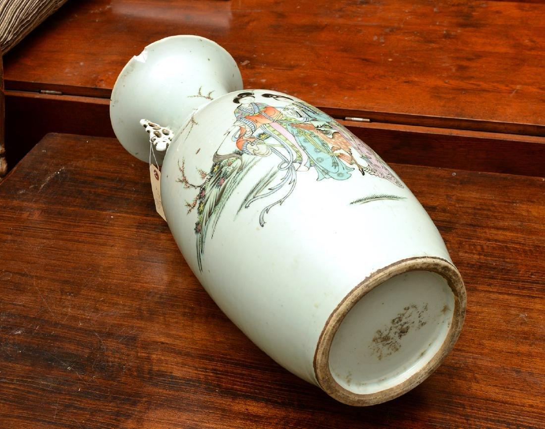 Chinese famille rose porcelain floor vase - 8
