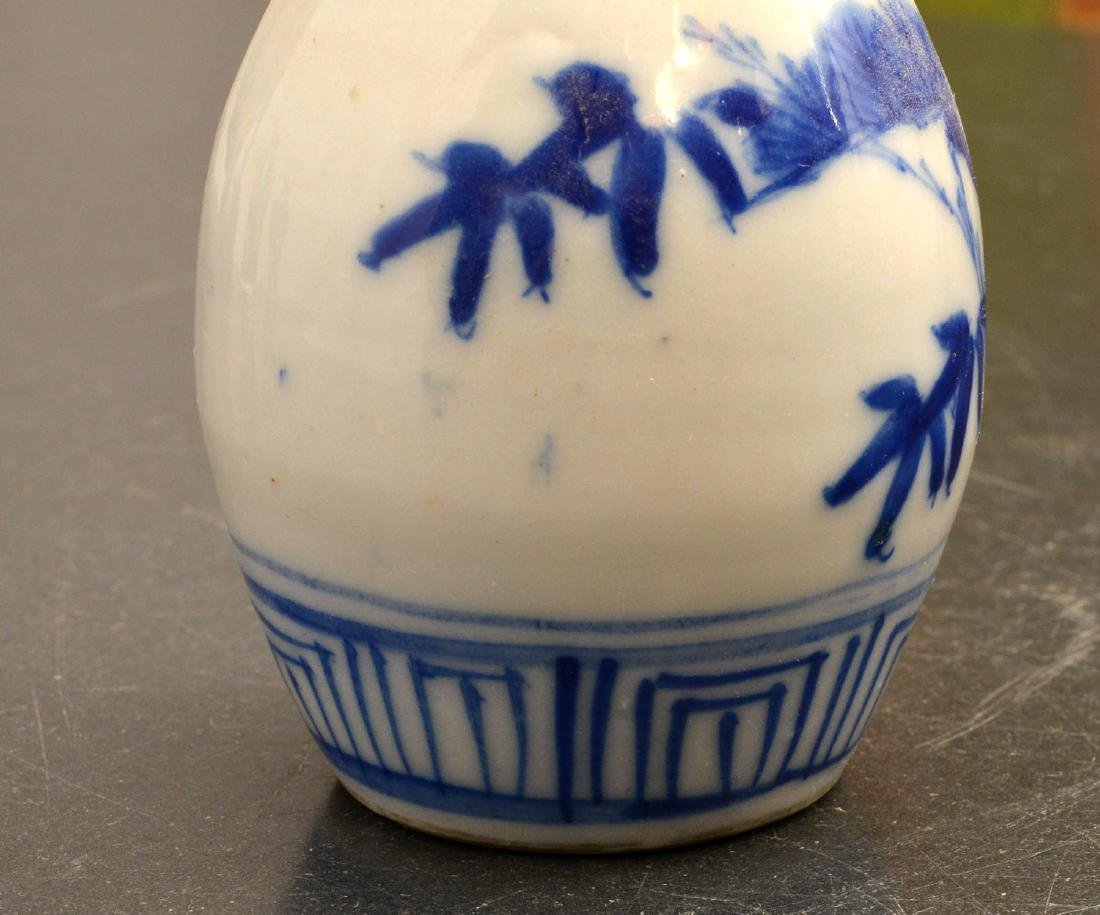 (2) pairs Chinese blue and white cabinet vases - 7