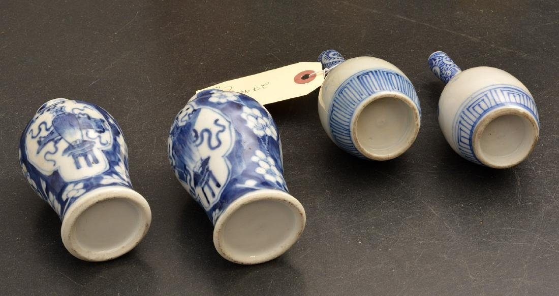 (2) pairs Chinese blue and white cabinet vases - 8