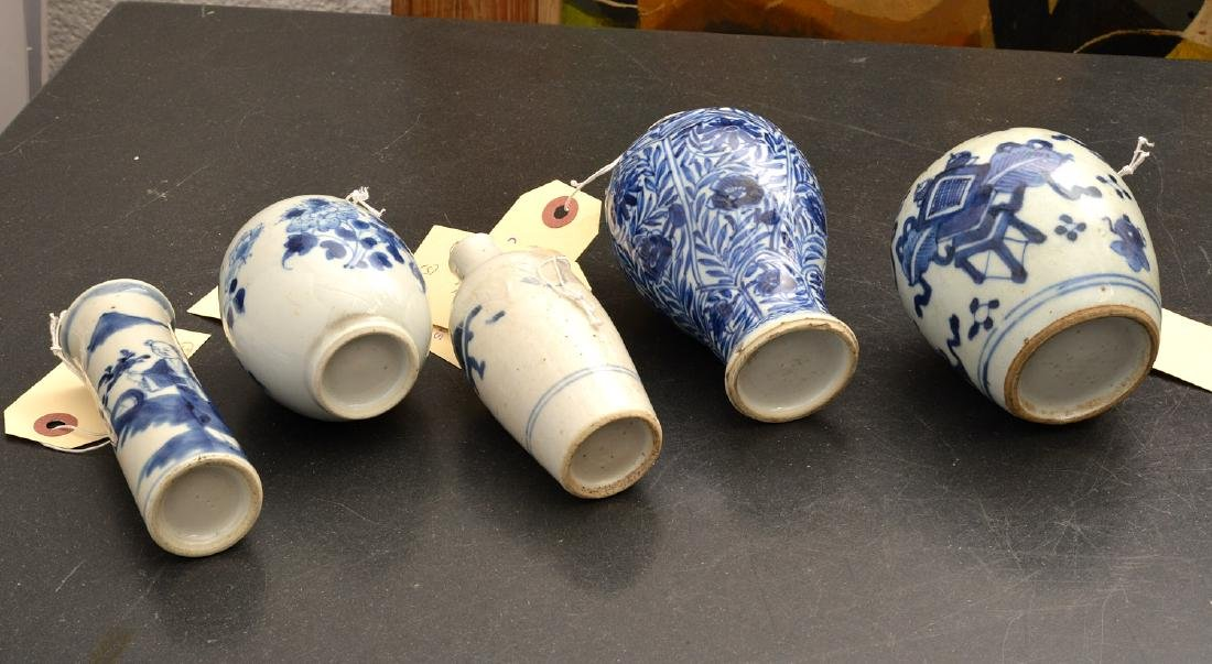 (5) Chinese blue & white porcelain vases and jars - 10
