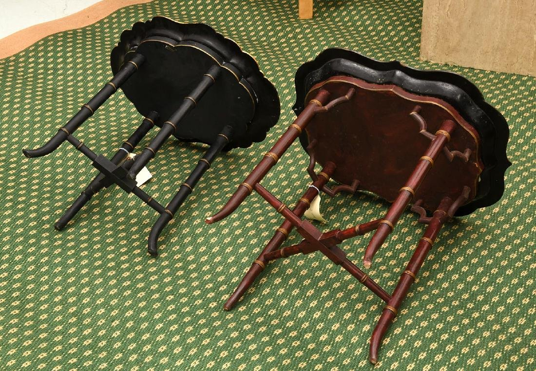 (2) Victorian style tray tables - 10