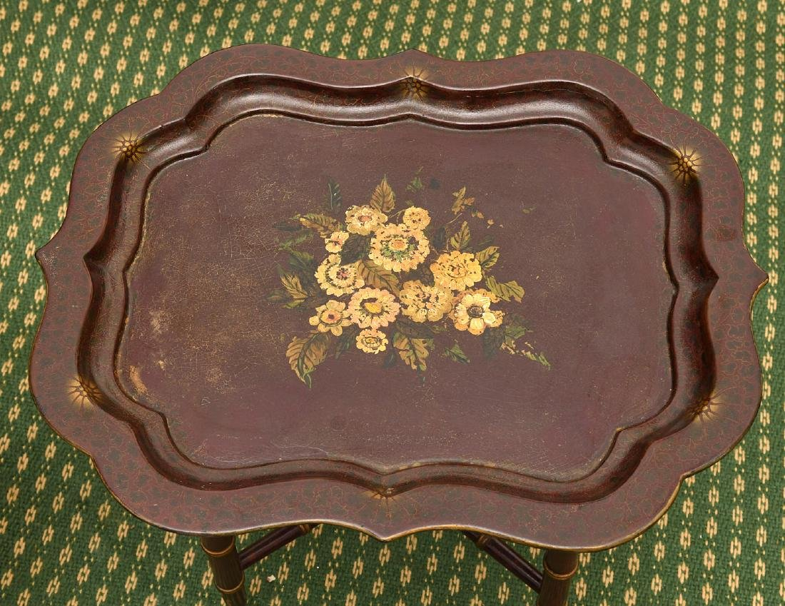 (2) Victorian style tray tables - 2