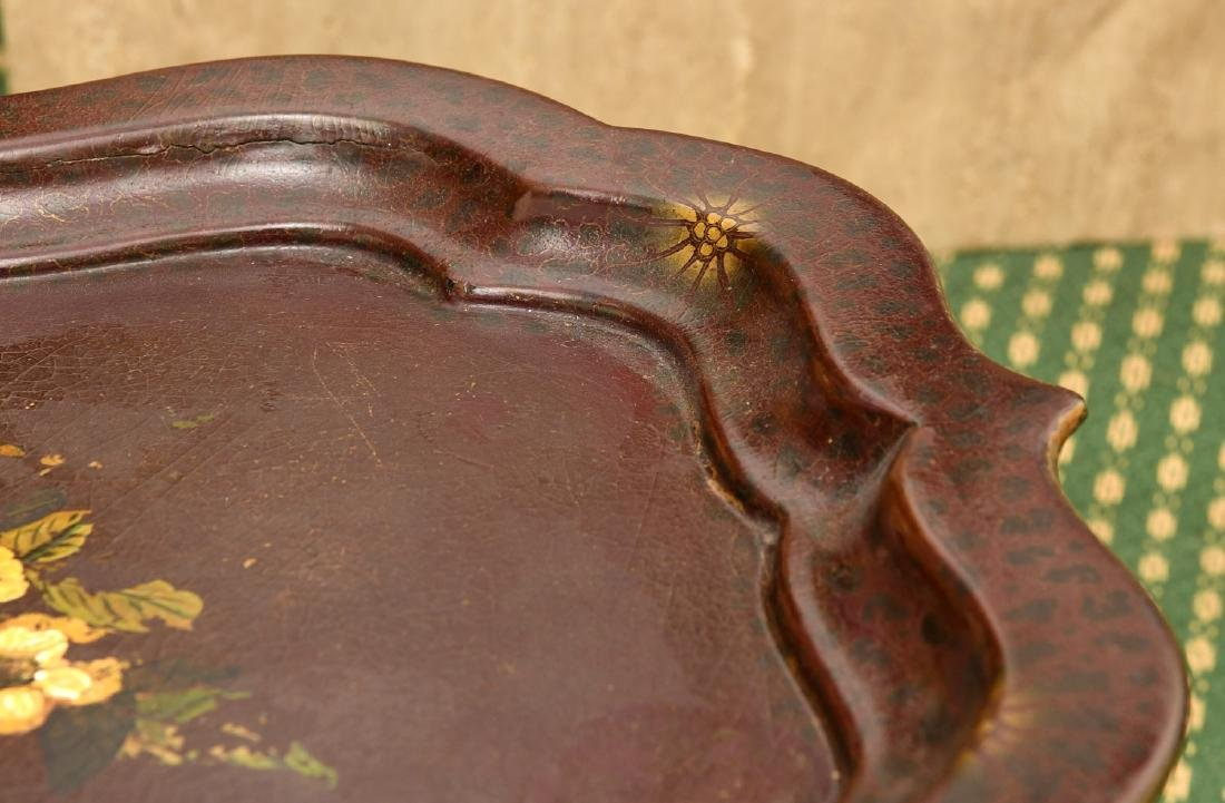 (2) Victorian style tray tables - 3
