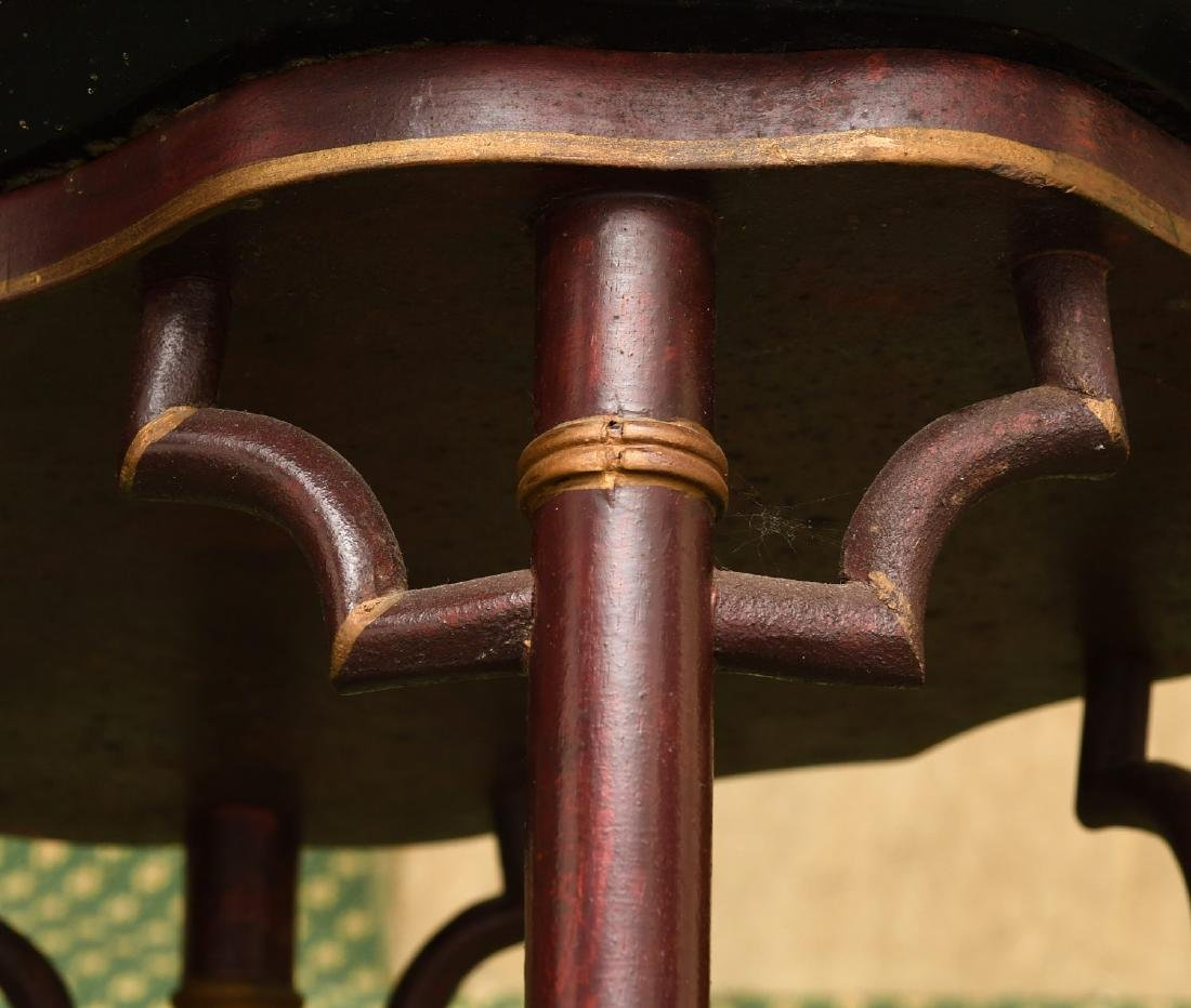 (2) Victorian style tray tables - 4