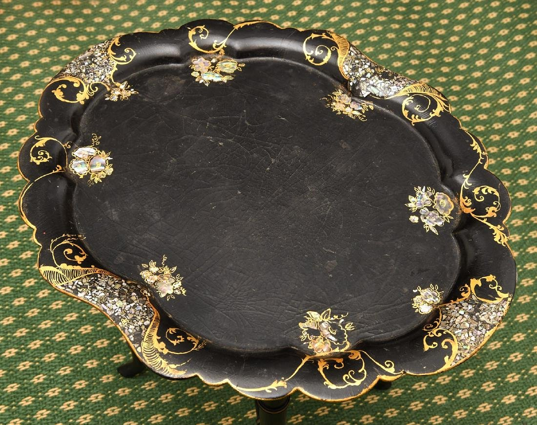 (2) Victorian style tray tables - 7