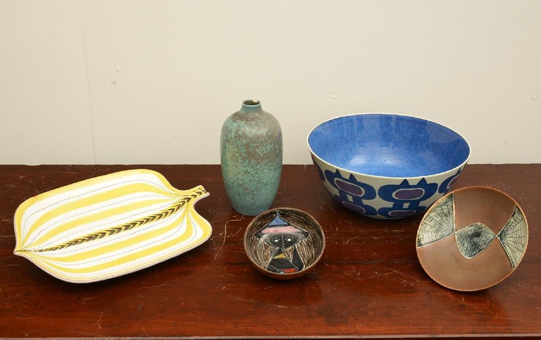 Group European Modernist ceramics