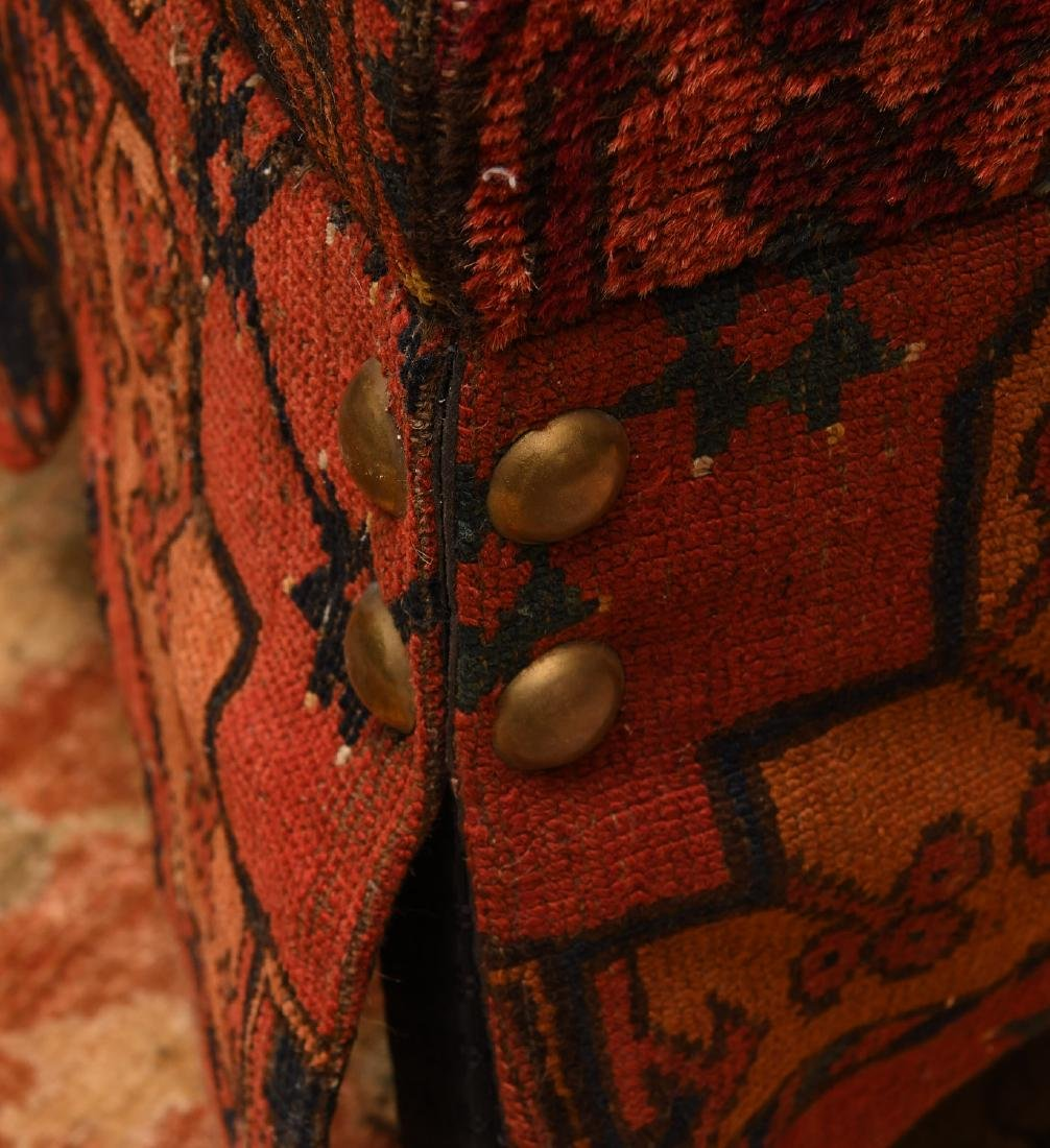 Decorator Persian carpet skirted table on casters - 2