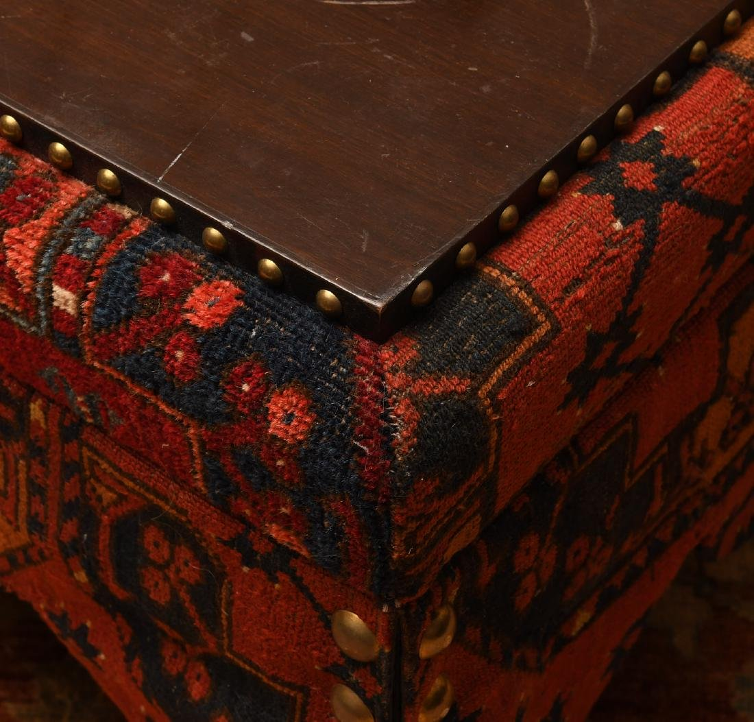 Decorator Persian carpet skirted table on casters - 3