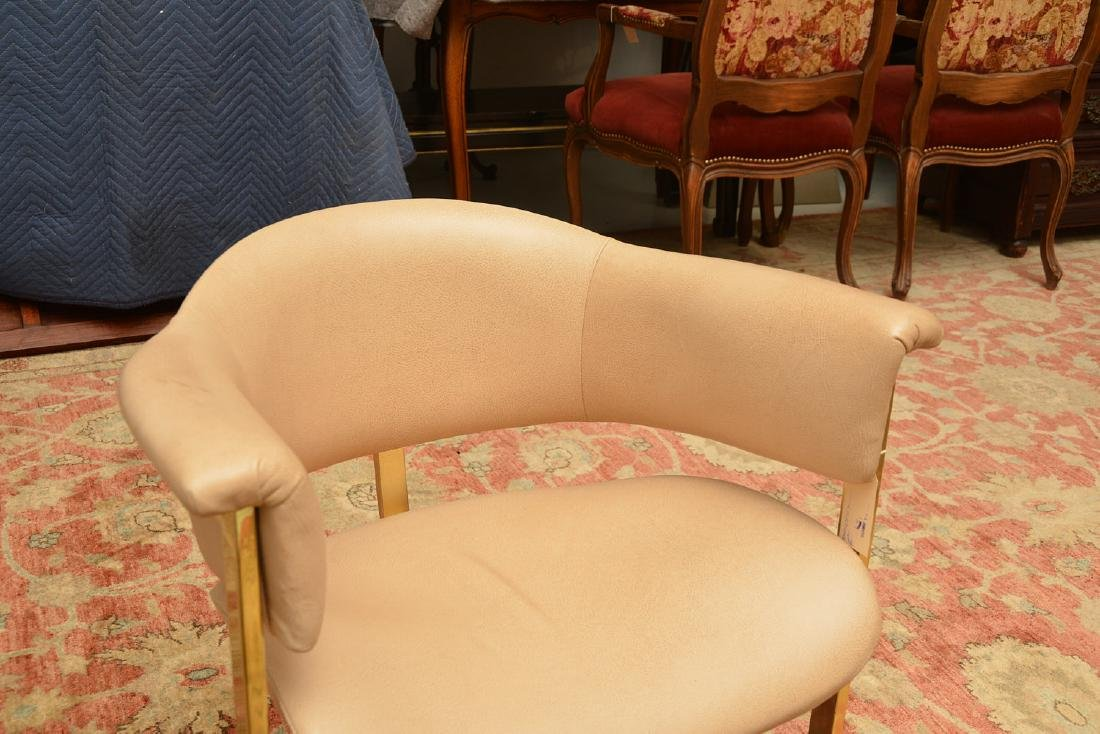Set (4) Onassis style leather armchairs - 3