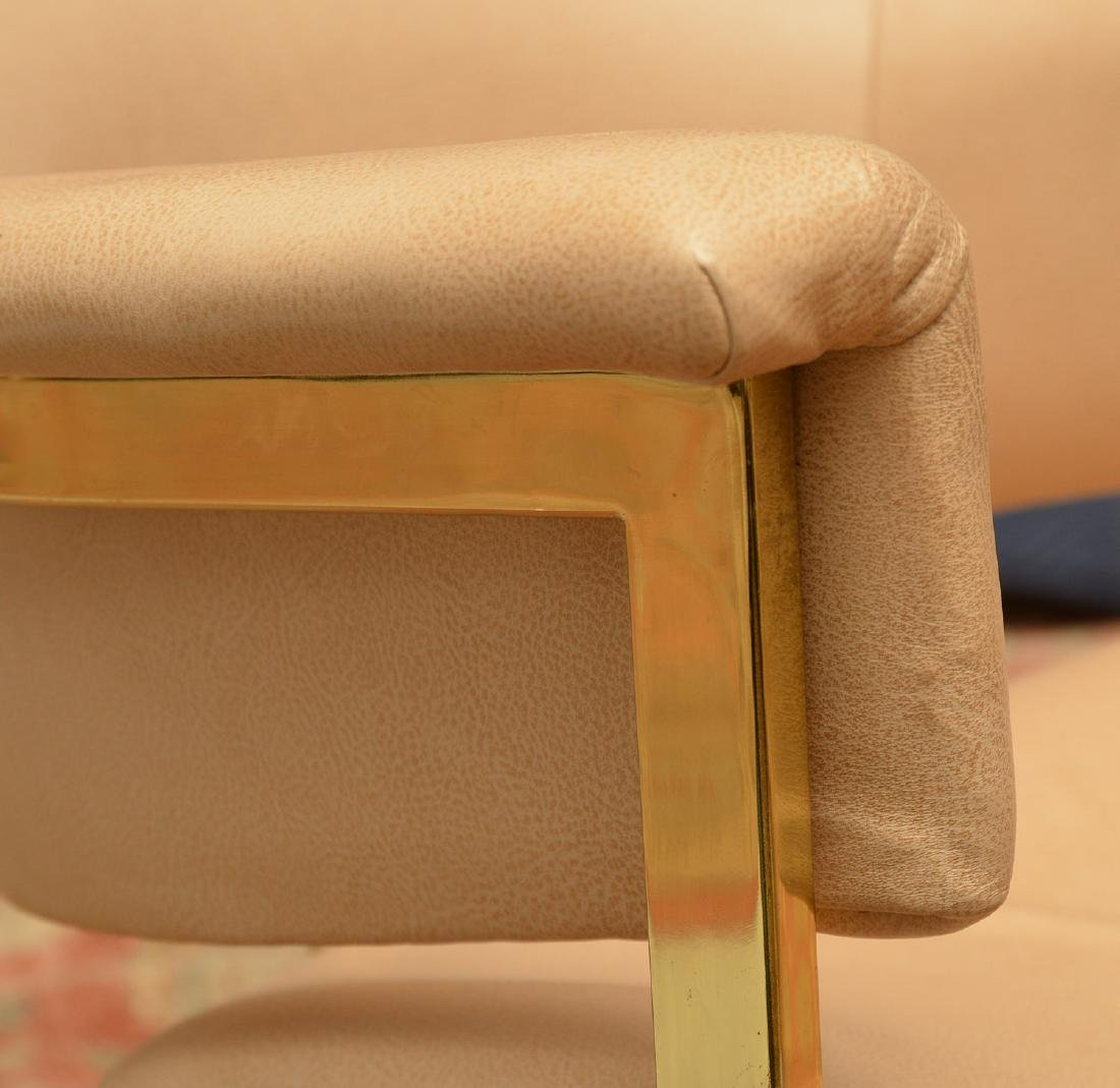 Set (4) Onassis style leather armchairs - 4