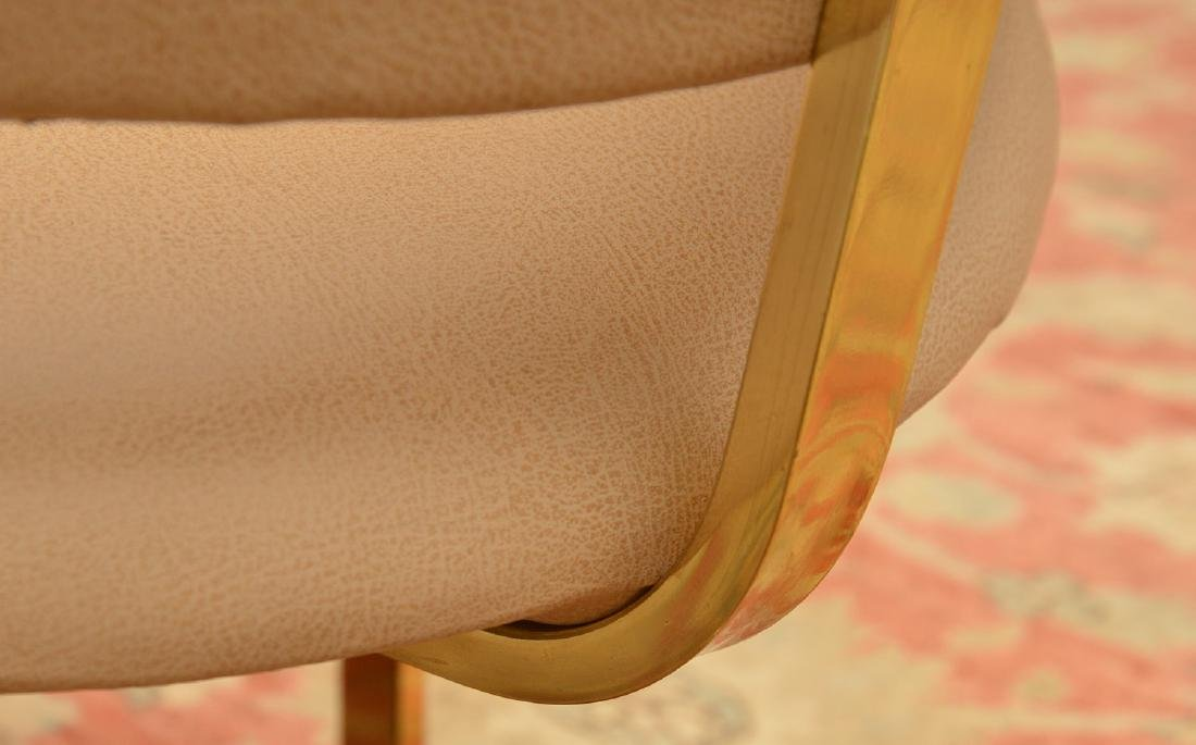 Set (4) Onassis style leather armchairs - 8