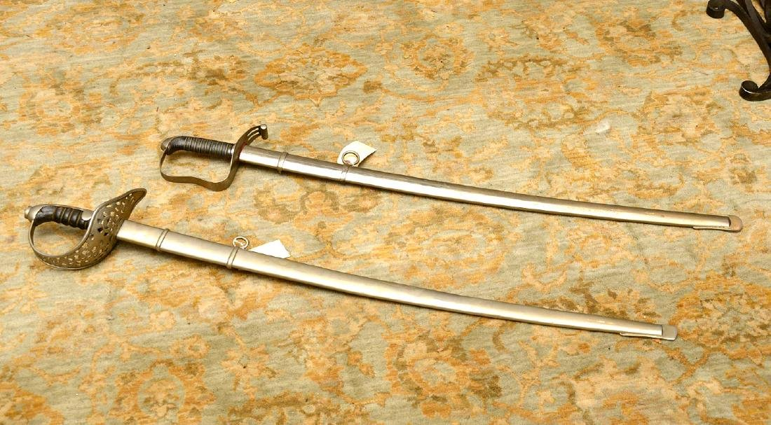 (2) antique Continental cavalry swords