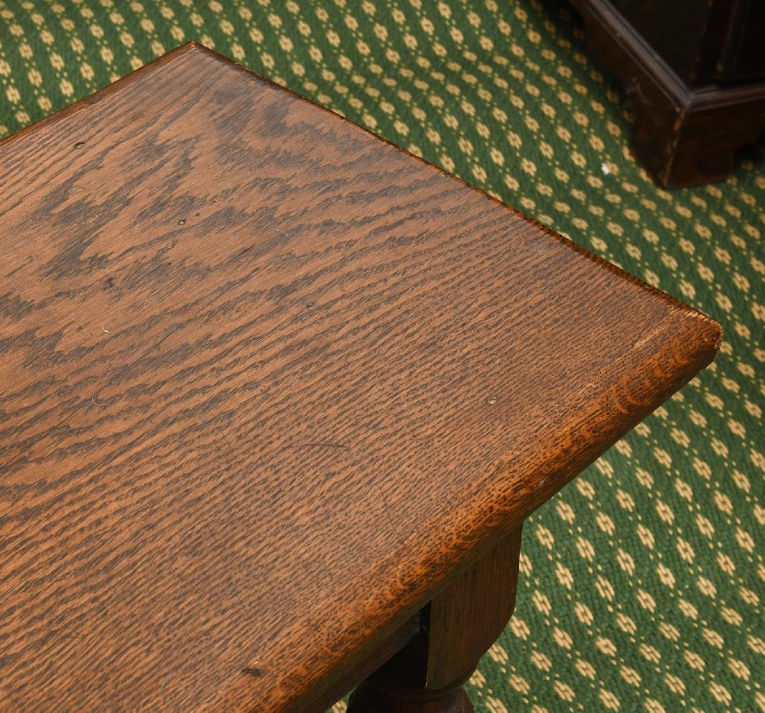 Jacobean style carved oak bench - 2
