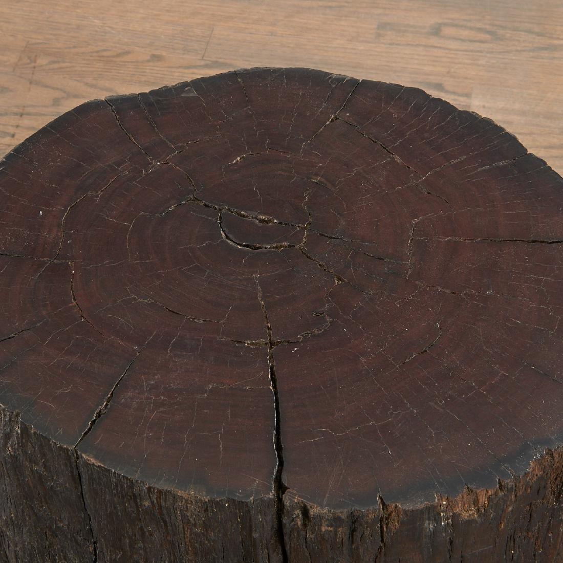 Pair Lignum Vitae trunk tables/stools - 3