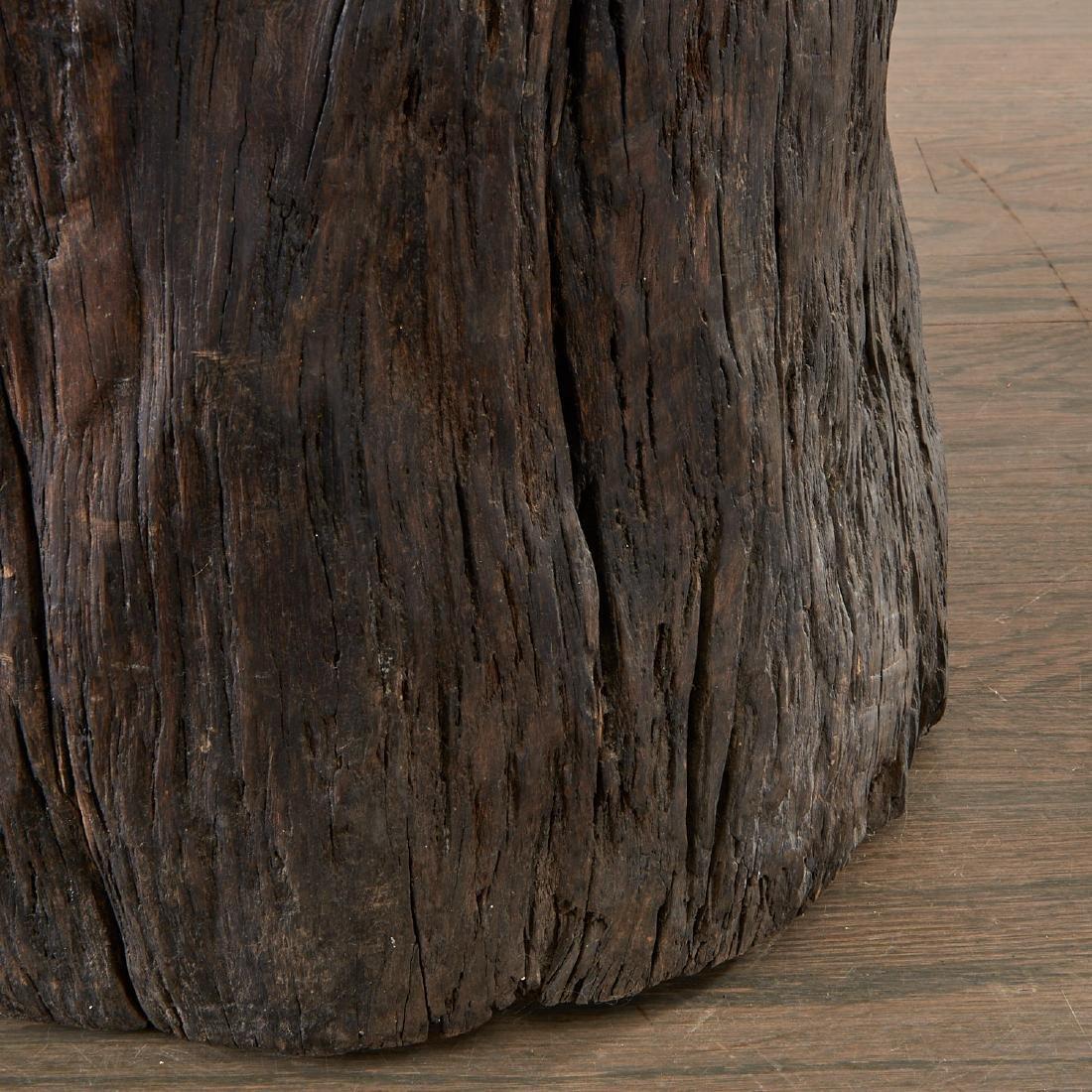 Pair Lignum Vitae trunk tables/stools - 5