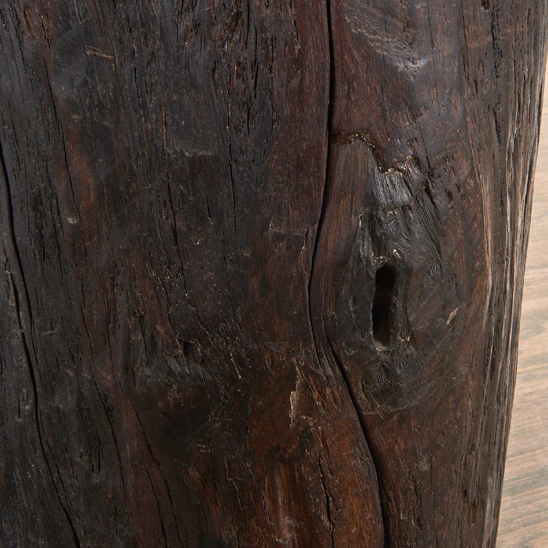 Pair Lignum Vitae trunk tables/stools - 6