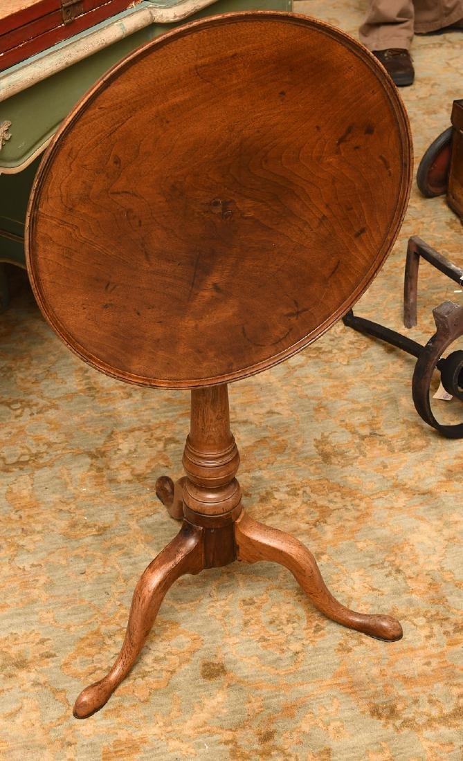 Mahogany tilt top tea table - 3