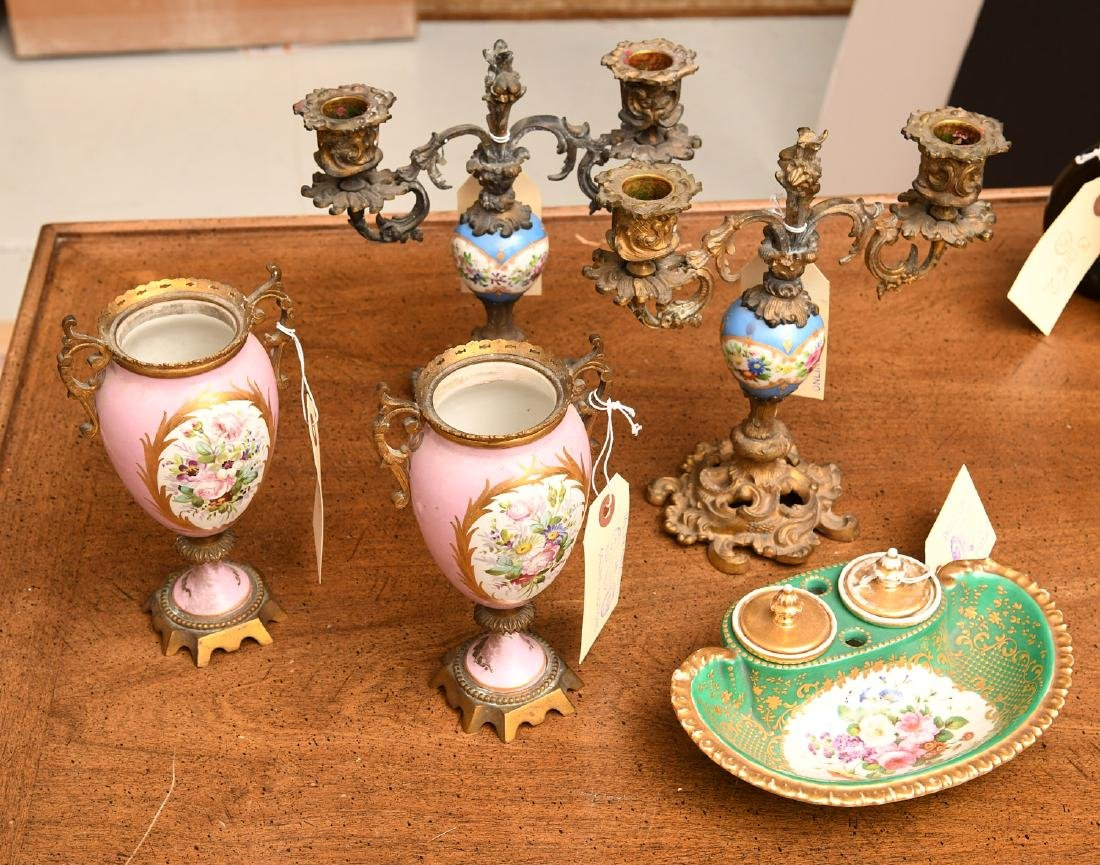 Collection (5) Sevres style porcelains - 2